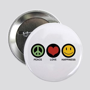 "Peace Love Happiness 2.25"" Button"