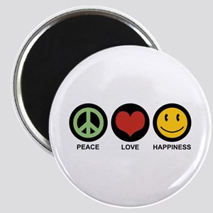 Peace Love Happiness Magnet