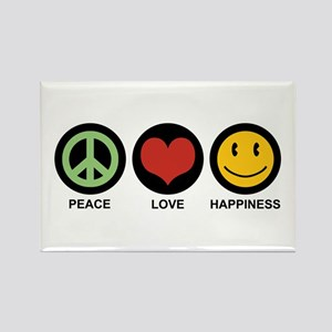 Peace Love Happiness Rectangle Magnet