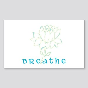 Breathe 2 Rectangle Sticker