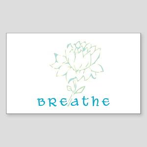 Breathe 2 Rectangle Sticker