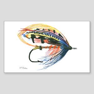 Fishing Lure Art Rectangle Sticker