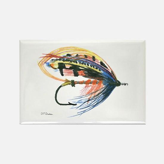 Fishing Lure Art Rectangle Magnet