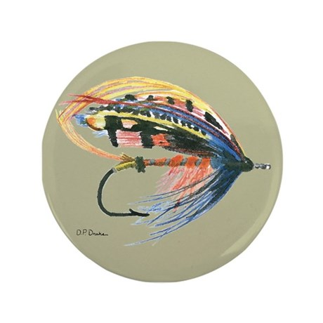 """Fishing Lure Art 3.5"""" Button (100 pack)"""