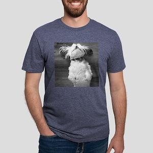 Shih Tzu Nap Mens Tri-blend T-Shirt