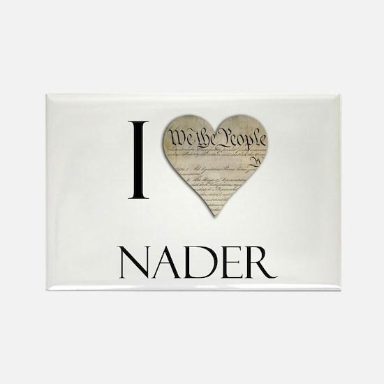 I Heart Nader Rectangle Magnet