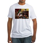 Santa's Papillon Fitted T-Shirt