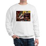 Santa's Papillon Sweatshirt