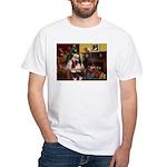 Santa's Papillon White T-Shirt