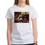 Santa's Papillon Women's T-Shirt