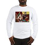 Santa's Petit Basset Long Sleeve T-Shirt