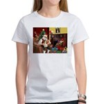 Santa's Petit Basset Women's T-Shirt