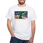 Xmas Magic & Poodle White T-Shirt