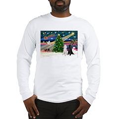 XmasMagic/2 Poodles (st) Long Sleeve T-Shirt