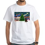 XmasMagic/Poodle (ST-ch) White T-Shirt
