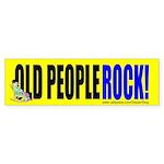 Old People Rock! (Bumper Sticker)