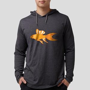 Tropical Gold Fish Illustration Mens Hooded Shirt
