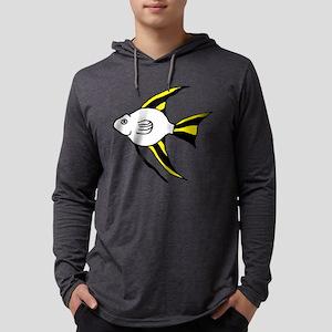 Tropical Angel Fish Illustration Mens Hooded Shirt