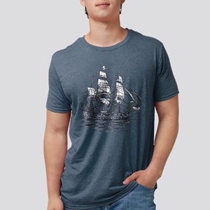 Nautical Ship Mens Tri-blend T-Shirt