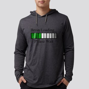 Brain Loading Bar Mens Hooded Shirt