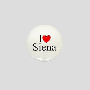 """I Love (Heart) Siena"" Mini Button"
