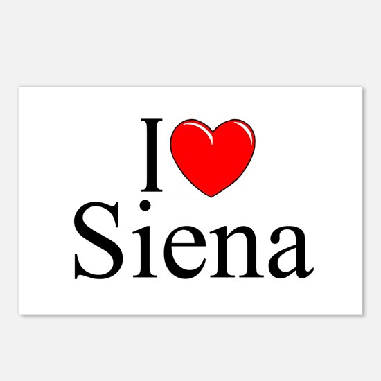 """""""I Love (Heart) Siena"""" Postcards (Package of 8)"""