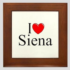 """""""I Love (Heart) Siena"""" Framed Tile"""