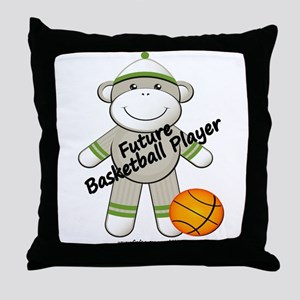 Future Basketball Player Throw Pillow