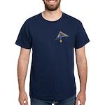 The Masonic Plumb, Square and Gage Dark T-Shirt
