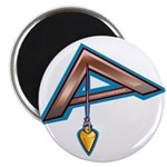 The Masonic Plumb, Square and Gage Magnet