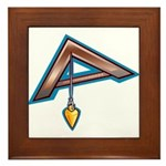 The Masonic Plumb, Square and Gage Framed Tile