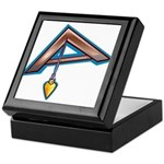 The Masonic Plumb, Square and Gage Keepsake Box