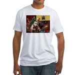Santa's Rottweiler Fitted T-Shirt