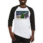 Xmas Magic & Schnauzer Puppy Baseball Jersey
