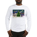 Xmas Magic & Schnauzer Puppy Long Sleeve T-Shirt