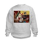 Santa's Mini Schnauzer Kids Sweatshirt