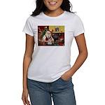 Santa's Mini Schnauzer Women's T-Shirt
