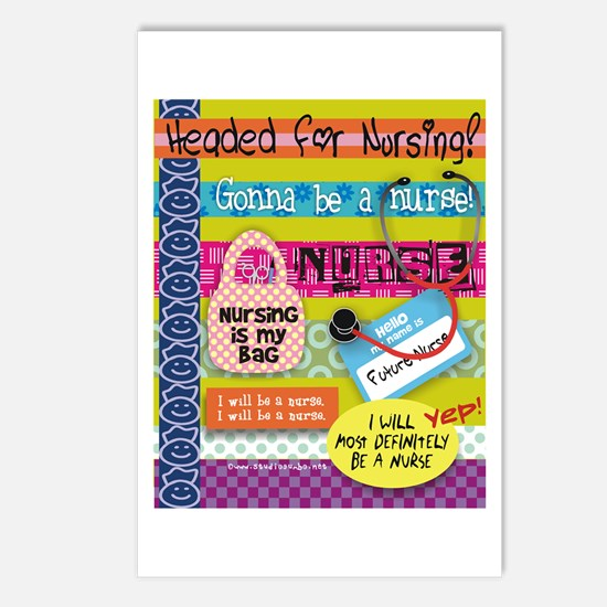 Headed to Nursing School Postcards (Package of 8)