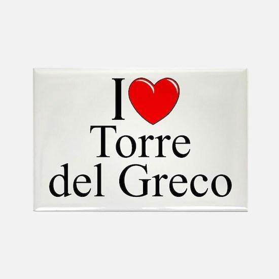 """I Love (Heart) Torre del Greco"" Rectangle Magnet"