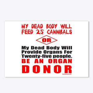 ORGAN DONOR Postcards (Package of 8)