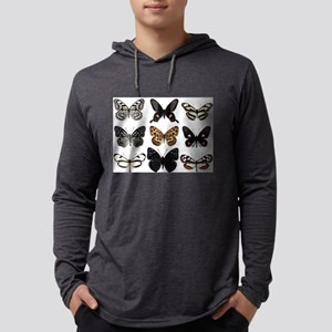 Butterfly Display Mens Hooded Shirt