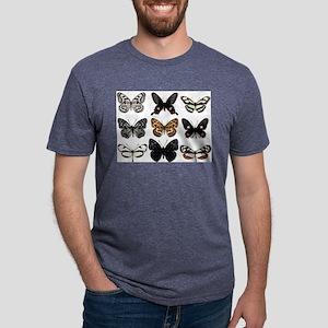 Butterfly Display Mens Tri-blend T-Shirt