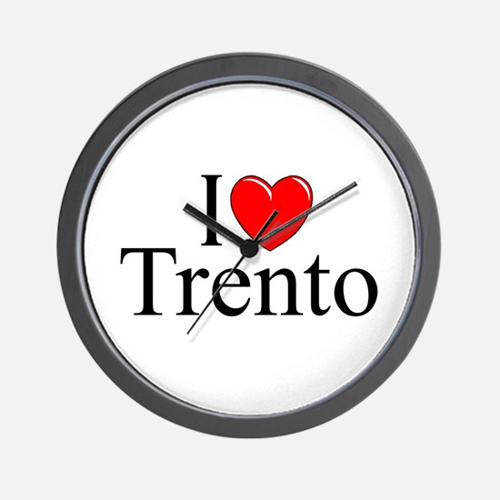 """I Love (Heart) Trento"" Wall Clock"