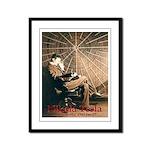 """Tesla-3 11"""" hi image Framed Panel Print"""