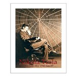 "Tesla-3 17"" hi image Small Poster"
