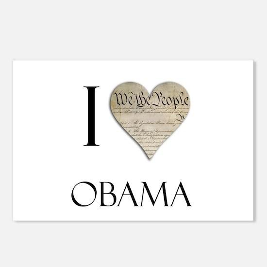 I Heart Obama Postcards (Package of 8)