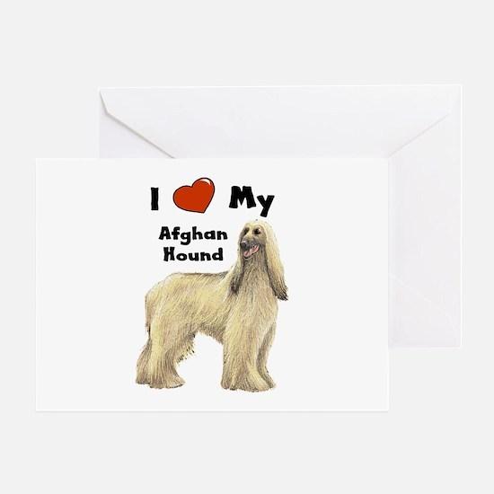 I Love My Afghan Hound Greeting Card