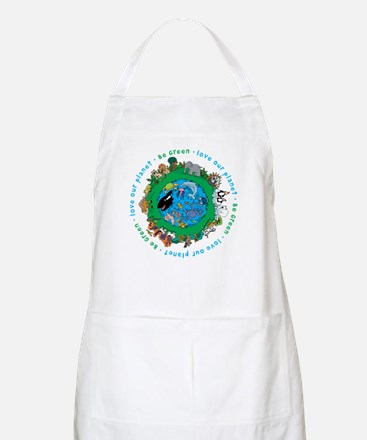 Be Green Love our planet BBQ Apron
