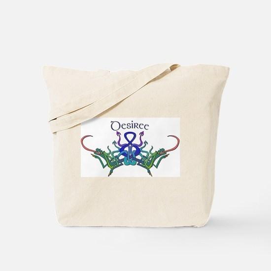 Desiree's Celtic Dragons Name Tote Bag