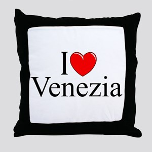 """I Love (Heart) Venezia"" Throw Pillow"